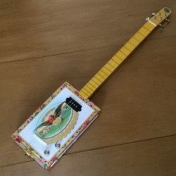StLouis Cigar box Guitar San cristobal 4 Strings
