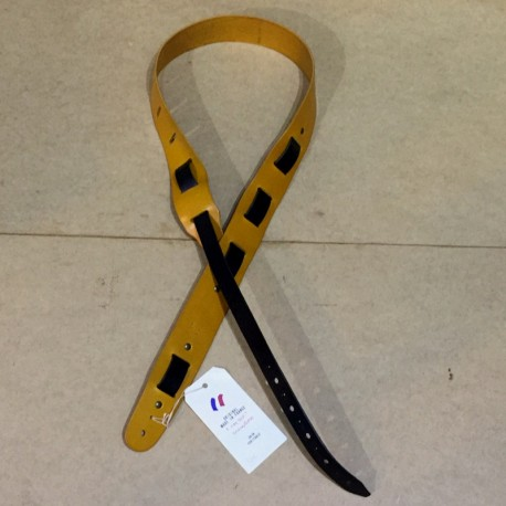 Leather Strap Guitar 2 tones yellow black