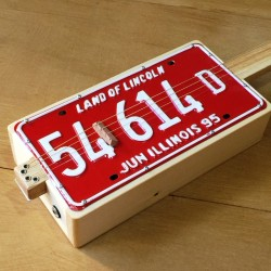 Land of Lincoln Resonateur License Plate 4 cordes