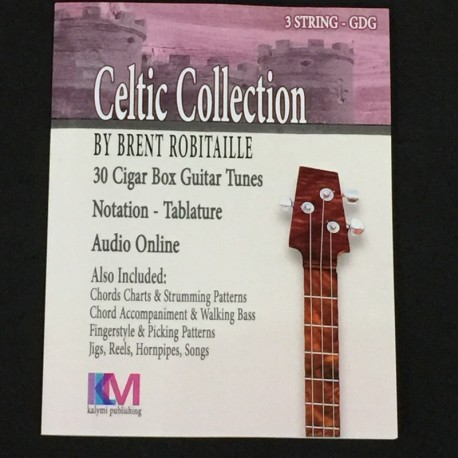 3 string Celtic cigar box guitar tabs and note file download