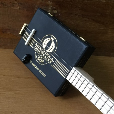 StLouis CigarBox Guitar Mitchell Orchant 4 Strings Piezo Pickup
