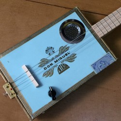 Cigarbox Guitar pickup piezo 3 Strings Don Miguel