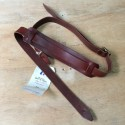 Leather strap cigarbox guitar mahogany